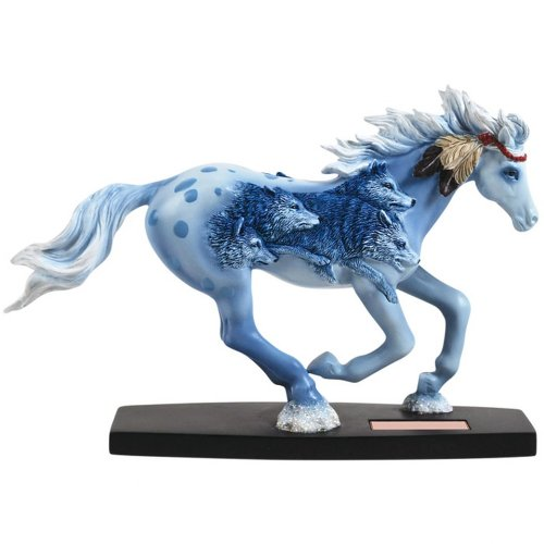 Westland Giftware Horse of a Different Color Figurine, 6.5-Inch, Wolves of The Crow Thoroughbred