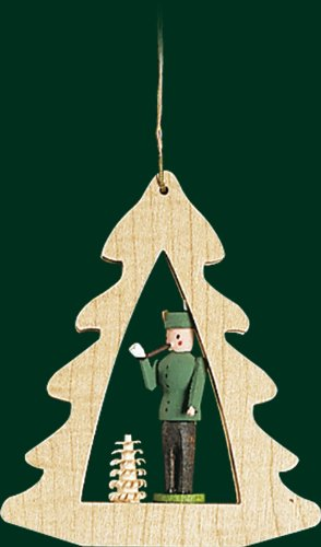 Hanging Christmas Tree Shaped Ornament Forester, 3.4 Inches
