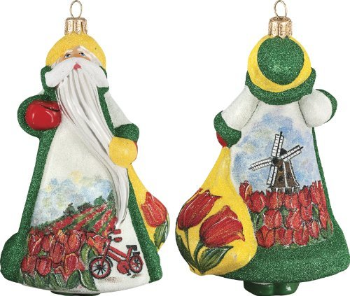 Glitterazzi International Holland Santa Ornament