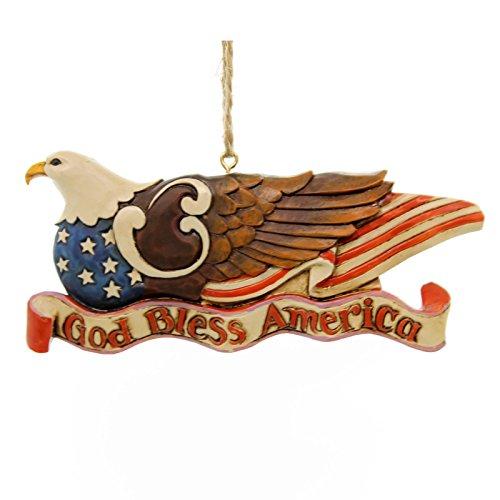 Enesco Jim Shore Patriotic Eagle Ornament