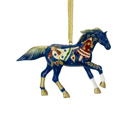 Trail of Painted Ponies from Enesco Song of Angels Ornament with Tin Gift Box Ornament 2.5 IN