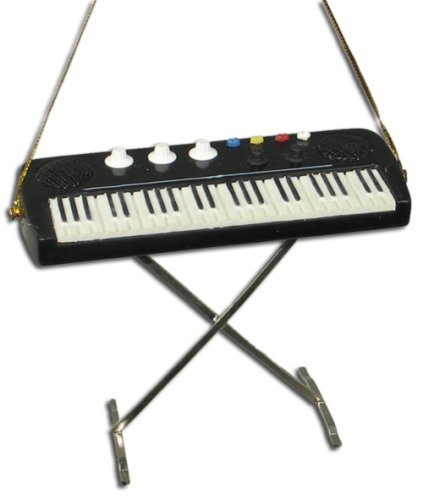 Miniature Keyboard Christmas Ornament 3.5″