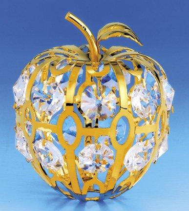 APPLE 24k Gold Plated Swarovski Crystal Figure Ornament