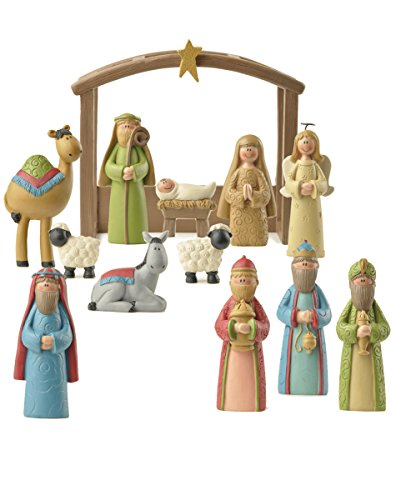 13 Piece 5 inch Complete Resin Stone Christmas Nativity Set