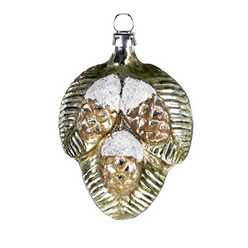 "Vintage mouthblown Christmas Glass ornament ""Small Pine Cones"" by MAROLIN® Germany"