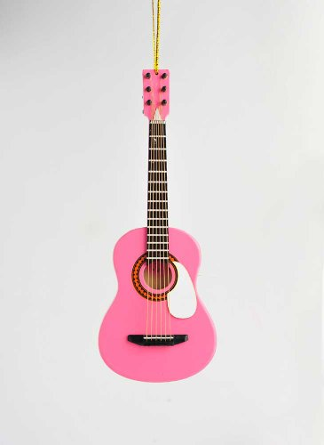 Music Treasures Co. Hot Pink Guitar Ornament