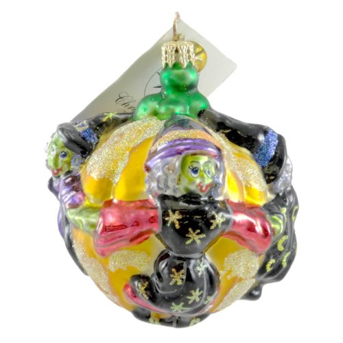 Christopher Radko CRONE CAPADES Glass Ornament Halloween Witch