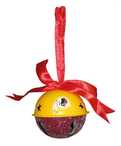 Washington Redskins NFL Football Metal Glitter Bell Holiday Christmas Ornament