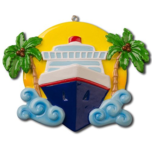 Travel Cruise Ship Personalized Christmas Tree Ornament
