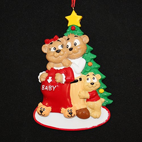 Expecting Family Pregnancy Christmas Ornament