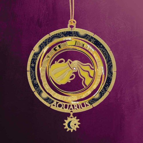 ChemArt 2.5″ Collectible Keepsakes Aquarius Zodiac Christmas Ornament