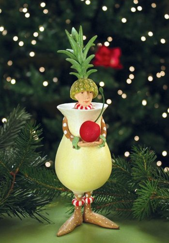 Patience Brewster Peter Colada Ornament – Krinkles Christmas Décor New 08-30758