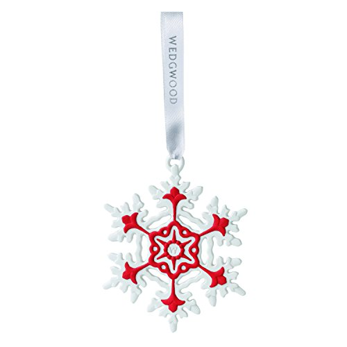 Wedgwood Snowflake Christmas Ornament, Red