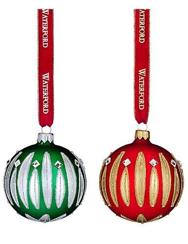 Waterford HH Carina Ball Ornament, Pair