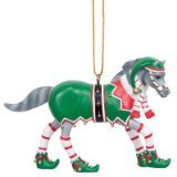 Enesco Trail of Painted Ponies Bells 'n' Elves Ornament, 2.4-Inch