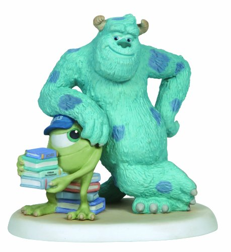 Precious Moments Disney Sully Leaning on Mike Figurine