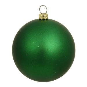 Vickerman 34834 – 3″ Green Matte Ball Christmas Tree Ornament (12 pack) (N590804DMV)