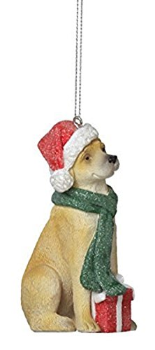 Bundled Up Yellow Lab Christmas Ornament