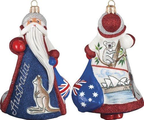 Glitterazzi International Santa Australia Ornament