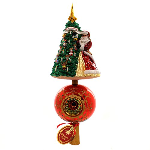 Christopher Radko Hanging with Joy Finial Christmas Ornament