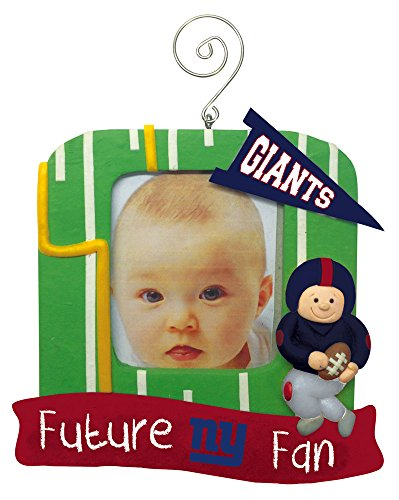 New York Giants Official NFL 5 inch x 5 inch Future Fan Photo Frame Christmas Ornament by Evergreen 164149