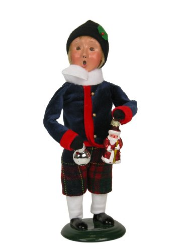 Byers Choice – Boy Selling Glass Christmas Ornaments – Christmas Decoration – Byers Choice Caroler