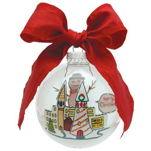 Santa Barbara Design Studio Lolita Holiday Moments Glass Ball Ornament, Cheery Mismas