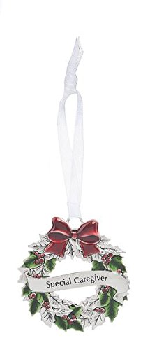 Holiday Wishes Wreath Ornaments – Special Caregiver EX26556