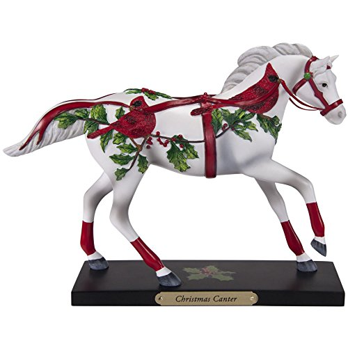Enesco Trail of Painted Ponies Christmas Canter Figurine, 6.5-Inch