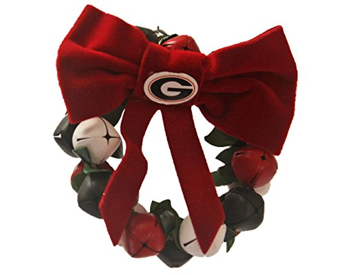 NCAA Georgia Bulldogs Bell Wreath Jingle Bell Ornament