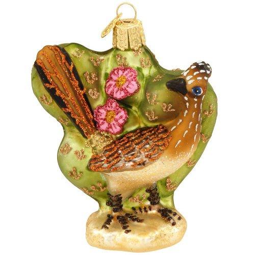 Old World Christmas Roadrunner Glass Ornament