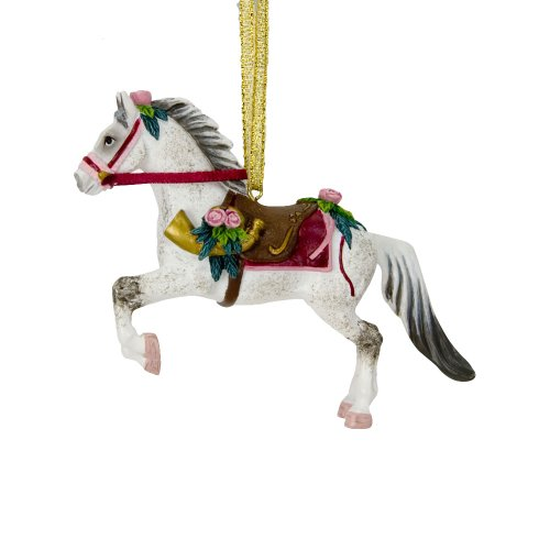 Trail of Painted Ponies from Enesco Victorian Christmas Tin Gift Box Christmas 3.2 IN