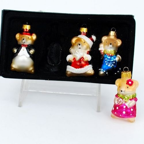 Vintage Inspired Mini Mouse Glass Ornaments