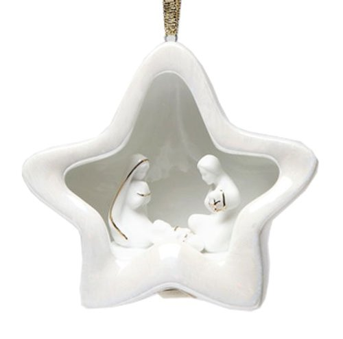 Appletree Design Nativity Star Ornament, 3-1/4-Inch Tall, Christmas Tree Light Snugly Fits Into Ornament
