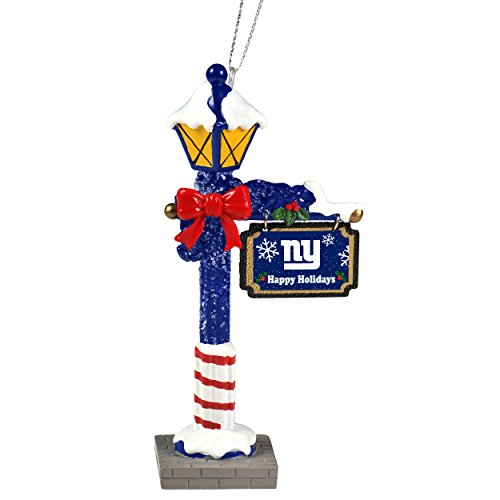 New York Giants Official NFL 5.7 inch x 3 inch Street Lamp Christmas Ornament