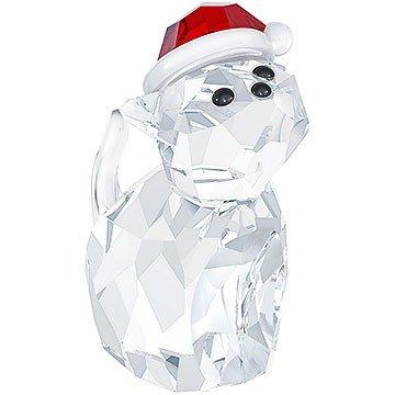 """Swarovski """"Cat with Santa's Hat"""" Figurine"""