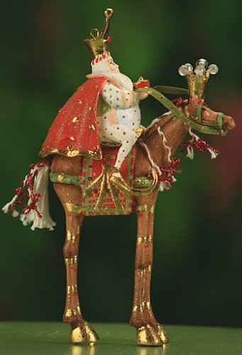 6.5″ Patience Brewster Krinkles Magi Arrives on Horse Christmas Ornament