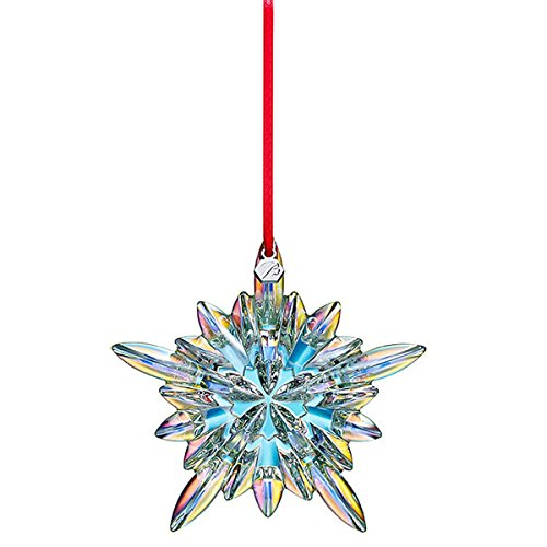 Baccarat Iridescent Courchevel Snowflake Christmas Ornament