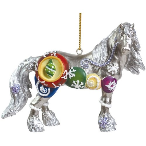 Westland Giftware Horse of a Different Color Ornament Figurine, 2.5-Inch, Silverfrost Clydesdale