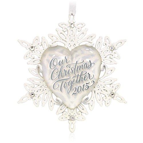 Our Christmas Together Snowflake Ornament 2015 Hallmark