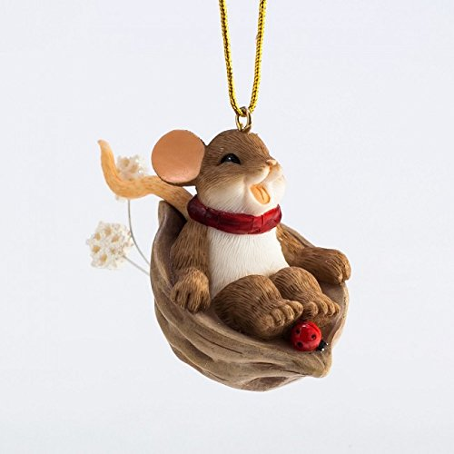 Enesco Charming Tails Let it Slide Ornament, 2-Inch