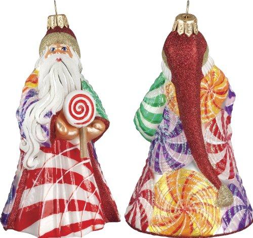 Glitterazzi Lollypop Santa Ornament