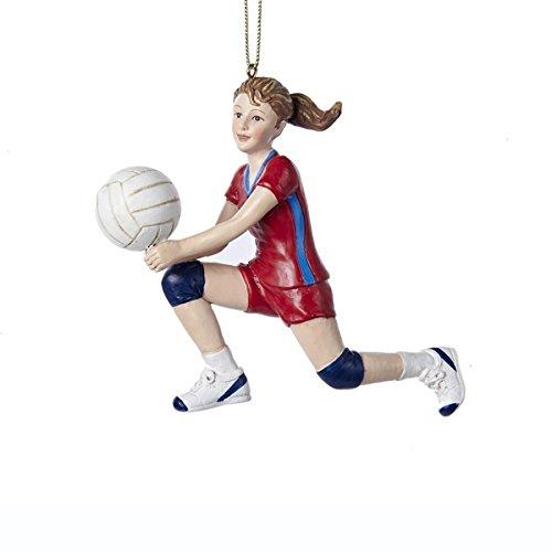 Kurt Adler 4.5″ Resin Volleyball Girl Ornament #C8819