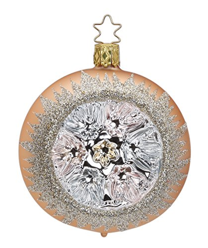 Reflector Ball 8 cm, Grand Reflection, peachy rose matt, #20044T108, from the 2015 History Affair Collection by Inge-Glas Manufaktur; Gift Box Included