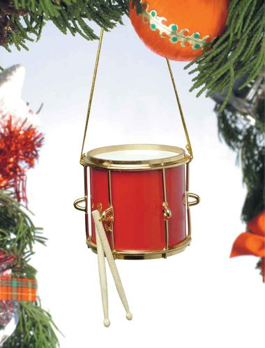Music Treasures Co. Red Marching Drum Ornament