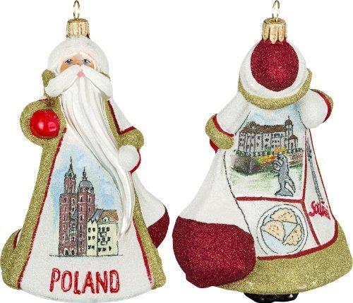 Glitterazzi International Poland Santa Ornament