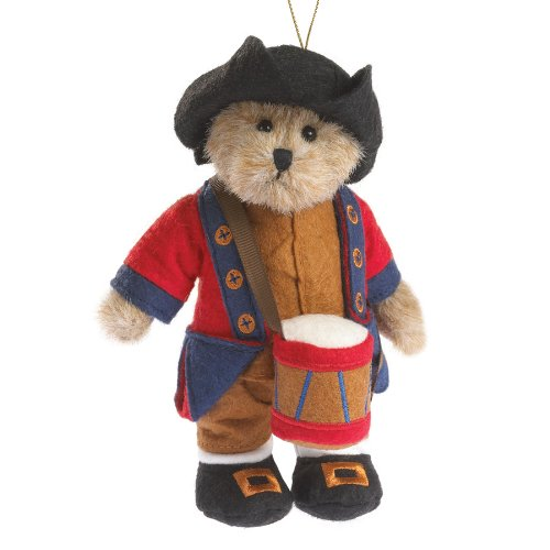 Williamsburg Boy Plush Bear Ornament