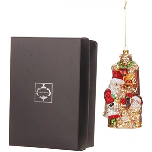 Mark Roberts Blown Glass Teddy Bear Santa Ornament Beautifully Gift Boxed