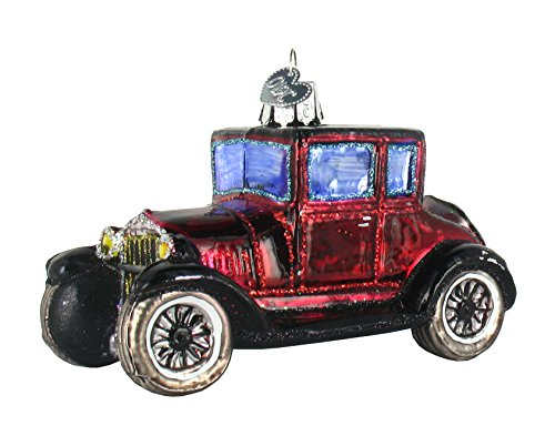 Old World Christmas Model T Coupe Glass Ornament