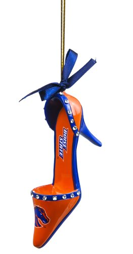 Boise State Broncos High Heel Shoe Christmas Ornament